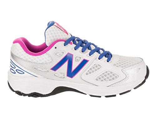 New Balance 680 V3 Unisex-Kinder White/Blue/Pink