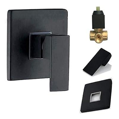 Shower Valve and Trim Kit Matte Black Shower Mixter ALL Metal Tub Shower Faucet Valve