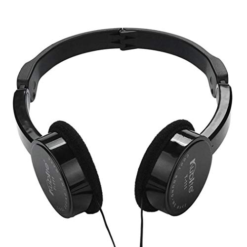 wumedy Children Soft Foldable Wired Headset 3.5mm Plug Elastic Headphone On-Ear Headphones