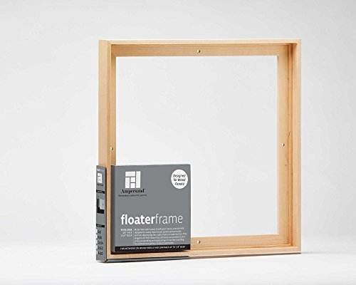 Ampersand Floaterframe for Wood Panels, 7/8 Inch Depth, Bold, 11X14 Inch, Maple (FBOLD781114M) - Floater Frame