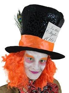 Verrückter Hutmacher  Perücke  Mad Hatter Alice im Wunderland   HALLOWEEN