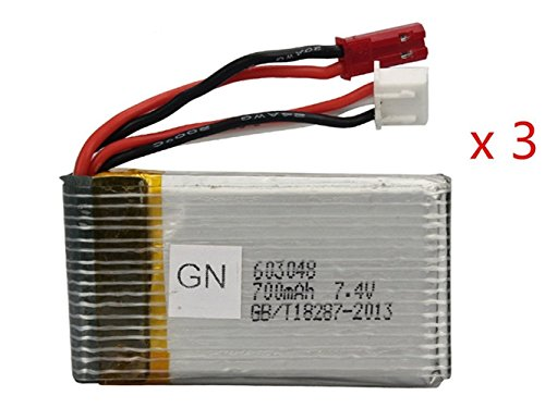 3pcs MJX X600 RC Quadcopter Drone Spare Parts Battery 7.4V 700mAh by MJX
