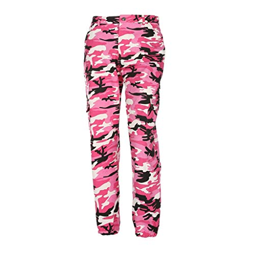 Jeans Alta Sexy Casual Sport Donna Vita Rosa All'aperto Pantaloni jeans donne Stampata Lqqstore Caldo Mimetica Moda xHOw8qnxga