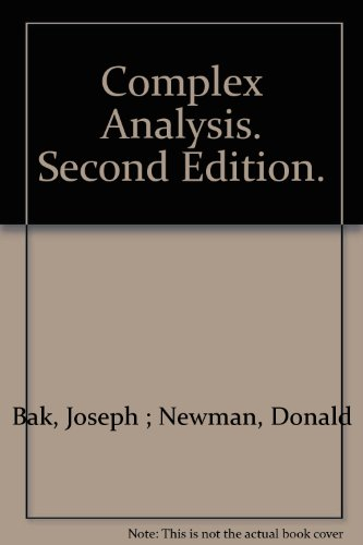 Complex Analysis. Second Edition.
