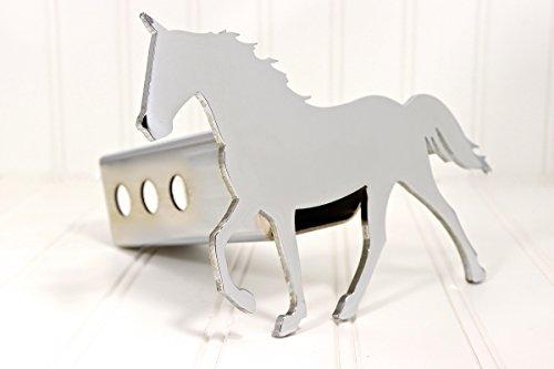 Custom Hitch Covers 12593-Chrome Rocky Mountain Horse Hitch Cover, (Horse Hitch Cover)