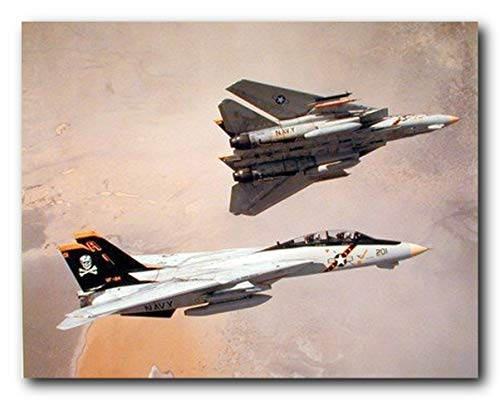 Poster Art Aviation (Aircraft Wall Decor F-14 Tomcat Airplane Aviation Jet Airplane Pictures Art Print Poster (16x20))