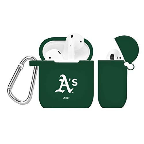 (GAME TIME Oakland Athletics Silicone Case Cover for Apple AirPods Battery Case Green )