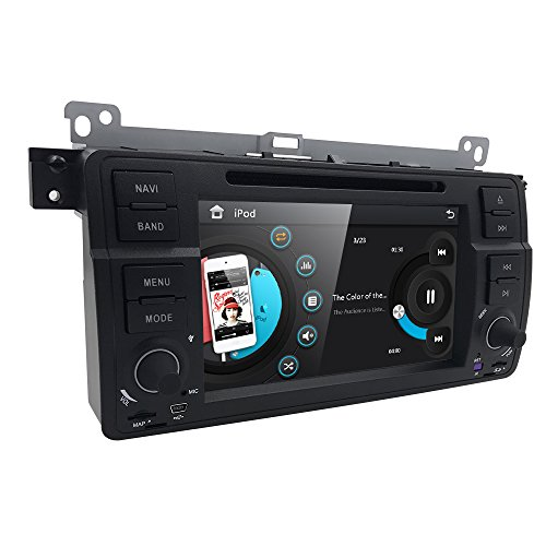Car DVD Player Special for BMW E46 3 Series M3 318/320/325/335 In Dash GPS Radio Stereo 7 Inch 1 Din Multimedia Touch Screen Bluetooth 4.0 Sub Volume Control Mp3 Wma Fm Dvr