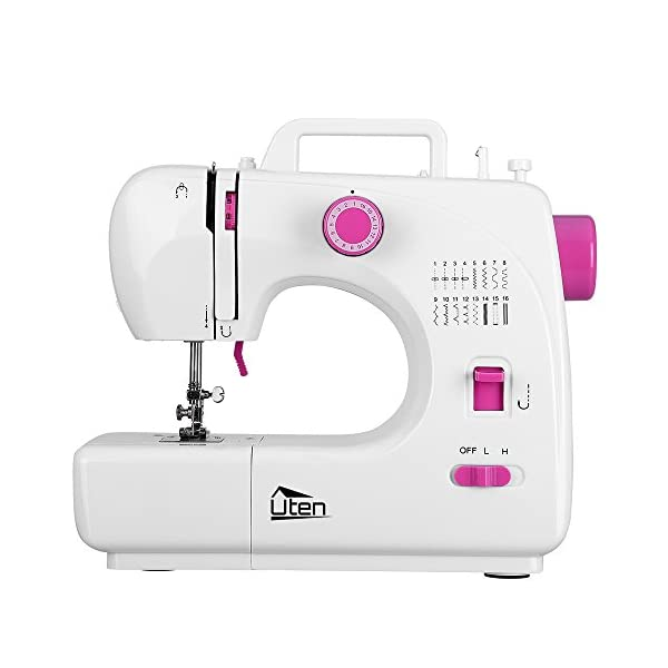 Kranich Portable Sewing Machine 2 Speed 16 Stitches Double Thread Needle Mini Sewing...