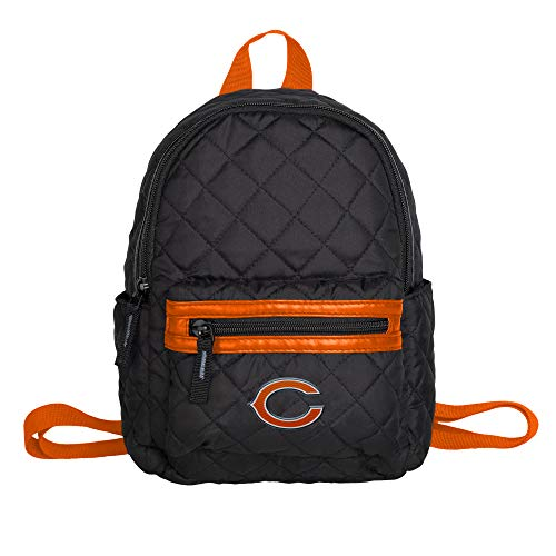 - Chicago Bears Black Quilted Mini Backpack - Womens