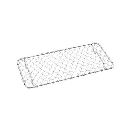 Amazon Com Stainless Rectangular Net For Tonkatsu 7 5l X 4w X 0 5