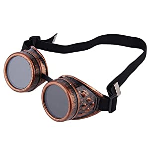 Nicky Bigs Novelties Steampunk Cosplay Goggles, Black, One Size