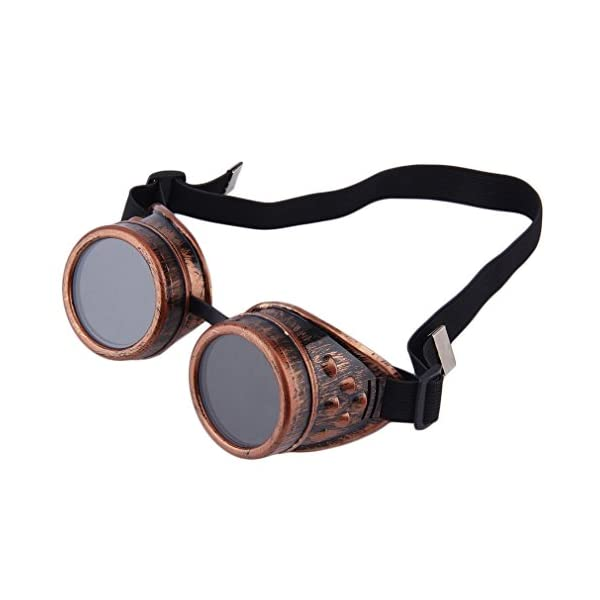 Nicky Bigs Novelties Steampunk Cosplay Goggles, Black, One Size 3