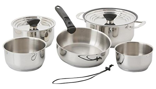 Galleyware Company 14 Piece Nesting Stainless Steel Induction Cookware Set, Large, Silver Review