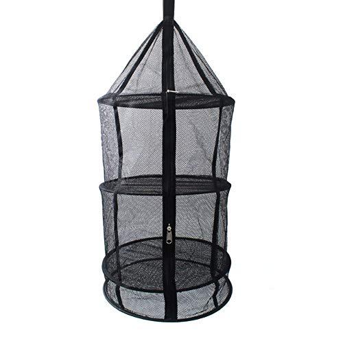 Jinsun Storage Bag Clothes Storage Multi-Layer Dry Net Collapsible Mesh Drying Rack Multifunctional Hanging Dryer Net Zippers Storage Bag
