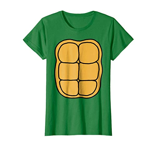 Womens Turtle Shell Shirt KIDS DIY Halloween Costume FRONT + BACK Small Kelly Green -