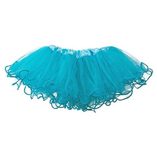 Turquoise Ruffled (My Lello Baby Tutu Ruffled Scallope Edge Skirt 5-Layer (newborn - 3mo.) Turquoise)