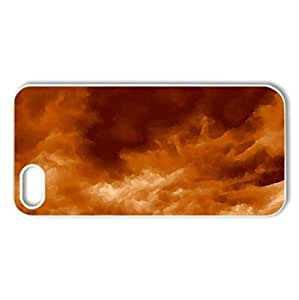 burning sky - Case Cover for iPhone 5 and 5S (Sky Series, Watercolor style, White)