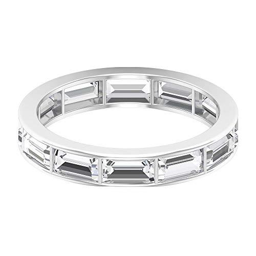 2.64 Ct SGL Certified Diamond Gold Eternity Ring, Unique Groom Promise Ring, Baguette Shape Diamond Wedding Mens Band…