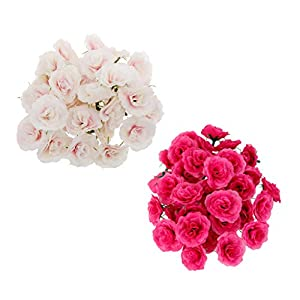 Fenteer 100pcs DIY Real Touch 3D Artificial Silk Carnation Flower Head Without Stem for Wedding Party Home Decoration 112