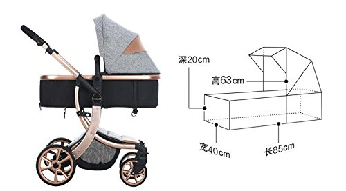 Baby Stroller High Landscape Two way shockproof baby can sit and sleep Baby use four seasons Red by Aimle (Image #6)