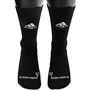 adidas Alphaskin Hydroshield Lightweight Cushioned Socks (1 Pack), Black, 9.5 12