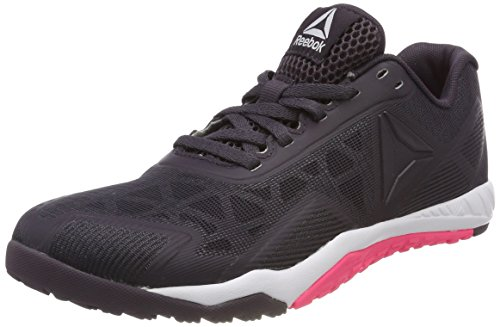 Reebok Ros Workout TR 2.0, Zapatillas de Deporte para Mujer Gris (Smoky Volcano/White/Acid Pink 000)