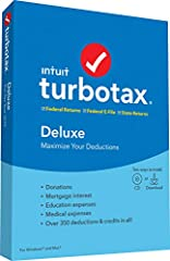 TurboTax Deluxe is recommended if you own your own home, donated to charity, have significant education or medical expenses, have child-related expenses or have a lot of deductions. TurboTax is tailored to your unique situation-it will search...