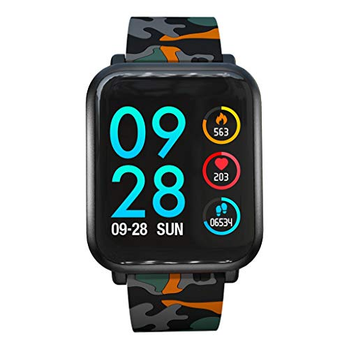NXDA Touch Screen Heart Rate Monitor ActivityTracker Pedometer Sleep Monitor Blood Pressure Android iOS Sports Fitness Calorie Wristband Wear IP68 Smart Phone Waterproof (A)
