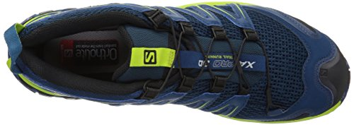 Salomon XA Pro 3D, Scarpe da Trail Running Uomo Blu (Poseidon/Lime Green/Black 000)