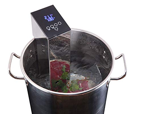 TINVOO SVC150 Sous Vide Precision Cooker 1100 Watts Immersion Circulator Built-in Patented H-B-C system w/Accurate Temperature, Programmable Digital Touch Screen Display(Chef Series) by tinvoo (Image #8)