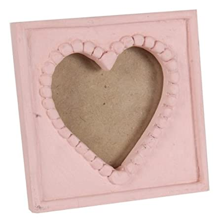 Small Wooden Heart Photo Picture Frame Pink Amazon Kitchen