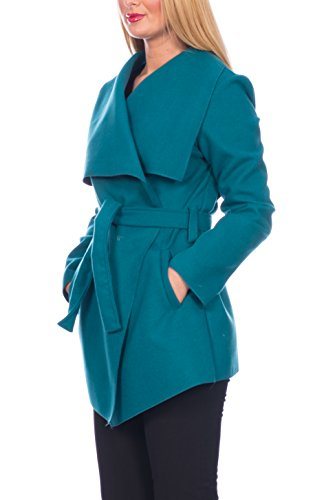 kurz Donna Kendindza trench Collection Türkis Cappotto O1U4xXUg