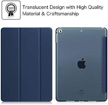 FINTIE Funda para iPad 2018/2017 - Trasera Transparente Mate Carcasa Ligera con Función de Soporte y Auto-Reposo/Activación para iPad 5.ª / 6.ª ...