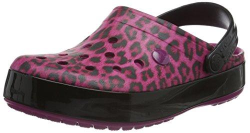 Crocs Dames Crocband Leopard Ii Klomp Mule Bes