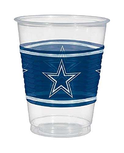 Bargain World Dallas Cowboys Plastic Cups (25/pkg) (with Sticky Notes) -