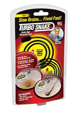 Turbo Snake Flexible Stick Drain Opener - As Seen On (Turbo Snake Drain)