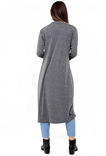 Get The Trend - Abrigo - para mujer gris oscuro