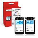 SMARTOMI 2PK PG-545 CL-546 XL Compatible Ink Cartridges Multi-Pack Canon PG 545 Black CL 546 Tri-Color Ink for used with Canon Pixma MG2550 MG2550S MG2950 MG2950S MG2450 IP2850 Series Printers