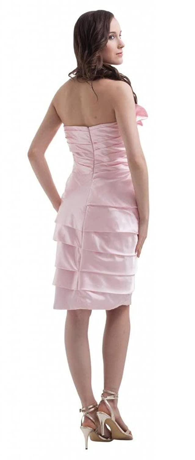 Orifashion Unique Origami Pink Short Prom/Evening Dress (Model EDSHER0072)