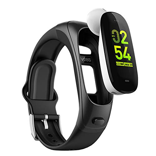 2019 Version H3 Smartwatch 3 in1 Smartband Sports Smart Watches with Bluetooth Headsets+ All-Day Heart Rate Blood Pressure Sleep Health Monitor+Activity Tracker Compatible for Android & iPhone(BLK) (Best Smartband Under 1000)