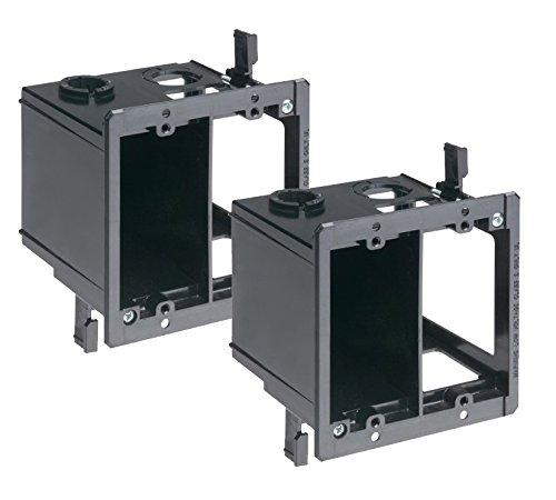 Arlington (2-Pack) LVDR2-2 2-Gang Combo Electrical/Low-Voltage Box, Black