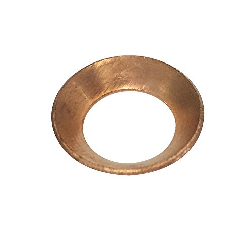 """Legines Copper Flare Gasket, 45 Degree, Flare Fitting (3/8"""" Tube OD, Pack of 10)"""
