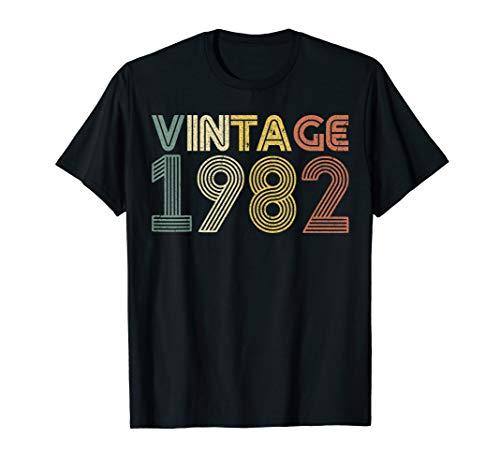 37th Birthday T Shirt Gift Vintage 1982 Classic Men Women