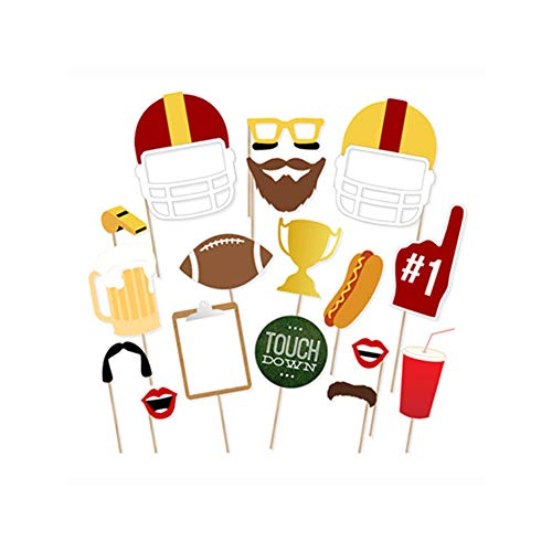 CC HOME Sport Theme Football Decorations,Game Day Party Decorations Supplies,Football Photo Booth Props for Sport Game Day,Touchdown Party,Tailgate Party,Baby Shower,Birthday Party Decorations Favor
