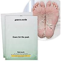 Dr. Pedicure Foot Peel Mask (2 Pair - Lemon) - Vegan - Exfoliating Foot Peeling Mask - Foot Mask For Dry Cracked Feet…