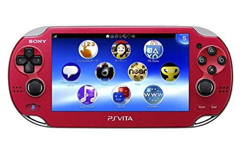 Sony Playstation Vita WiFi 1000 Series OLED Console with 2 Silicon Thumbstick Covers (Renewed) (Radiant Red)