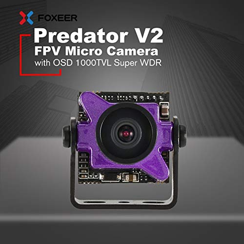 Wikiwand Foxeer Predator V2 FPV Micro Camera Cam with 1.8mm Lens OSD 1000TVL WDR NTSC