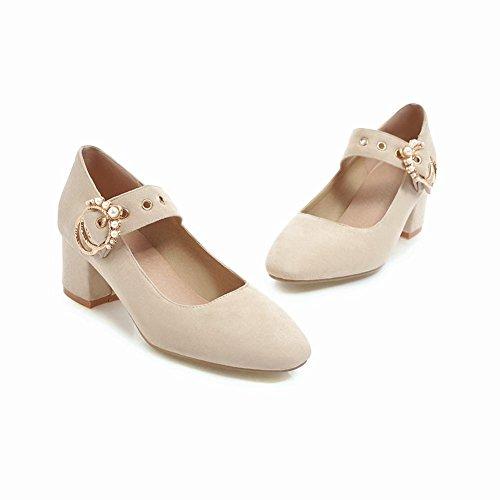 Court Women's Shoes Dolly Block Beige Shoes Mee Heel xHvqXgw