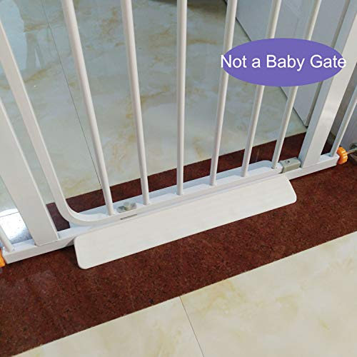 Stroller or Wheelchair Ramp for Baby Gate, Prevent Stubbing Toes,1 Pcs , Fit Baby Gate / Pet Gate With 0.8 inches (2cm) Wide Bottom Crossbar (White)